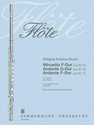 Minuetto KV 43 - Andante KV 48 u. 73 – 4 Flöten - laflutedepan.com