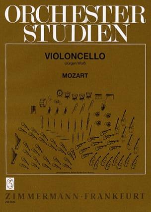 Wolfgang Amadeus Mozart - Orchesterstudien – Violoncello - Partition - di-arezzo.fr