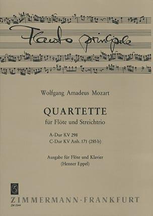 Quartette A-Dur KV 298 u. C-Dur KV 285b – Flöte Klavier - laflutedepan.com