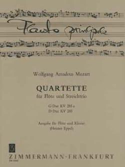 MOZART - Quartette G-Dur KV 285a u. D-Dur KV 285 – Flöte Klavier - Partition - di-arezzo.fr