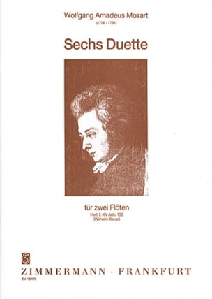 MOZART - Duette - Heft 1: KV Anh. 156 - 2 Flöten - Sheet Music - di-arezzo.co.uk
