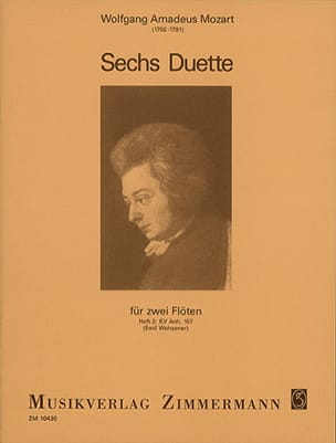 MOZART - 6 Duos - Heft 2: KV Anh. 157 - 2 Flöten - Sheet Music - di-arezzo.co.uk