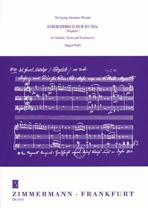 MOZART - Streichtrio G-Dur KV 562e Fragment - Partitur Stimmen - Sheet Music - di-arezzo.com