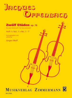 Jacques Offenbach - Zwölf Etüden op. 78, Heft 1: No. 1-7 - Sheet Music - di-arezzo.co.uk