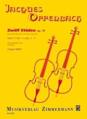 Jacques Offenbach - Zwölf Etüden op. 78, Heft 1: No. 1-7 - Sheet Music - di-arezzo.com
