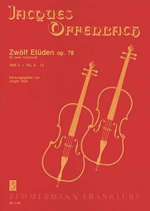 Jacques Offenbach - Zwölf Etüden op. 78, Heft 2: No. 8-12 - Sheet Music - di-arezzo.co.uk