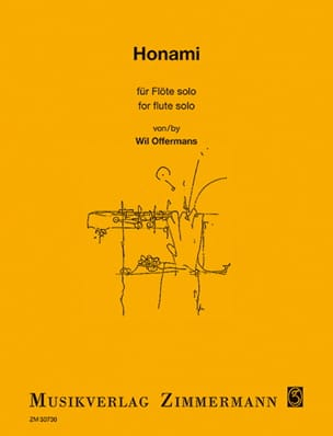 Wil Offermans - Honami - Solo flute - Sheet Music - di-arezzo.co.uk
