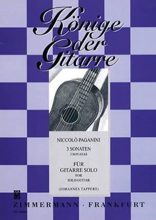 3 Sonaten -Gitarre solo - Niccoló Paganini - laflutedepan.com