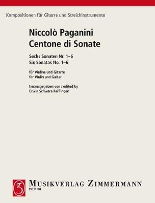 Centone di Sonate 6 Sonaten - Violine Gitarre PAGANINI laflutedepan