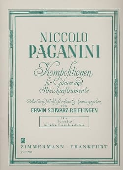 Niccolò Paganini - Terzetto in D Major - Sheet Music - di-arezzo.com