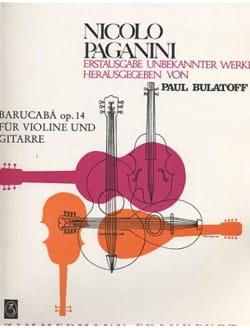 Niccolò Paganini - Barucabà op. 14 – Violine Guitare - Partition - di-arezzo.fr