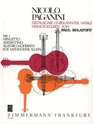 Niccolò Paganini - Minuetto, Andantino and Allegro moderato - Sheet Music - di-arezzo.co.uk