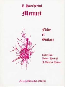 Menuet - Flûte guitare - BOCCHERINI - Partition - laflutedepan.com