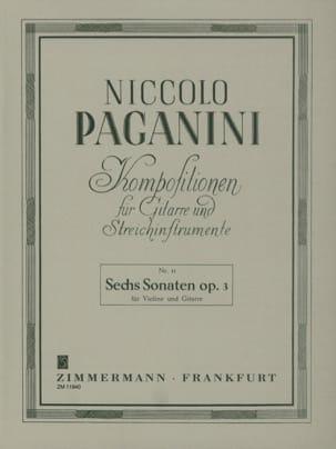 Niccolò Paganini - 6 Sonaten Op. 3 - Violin Gitarre - Partitura - di-arezzo.es