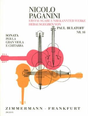 Sonata per la Gran Viola e Chitarra Niccolò Paganini laflutedepan