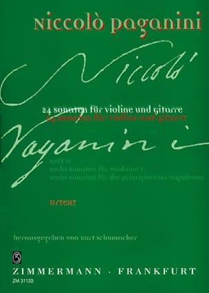 24 Sonaten für Violine und Gitarre - Heft 2 PAGANINI laflutedepan