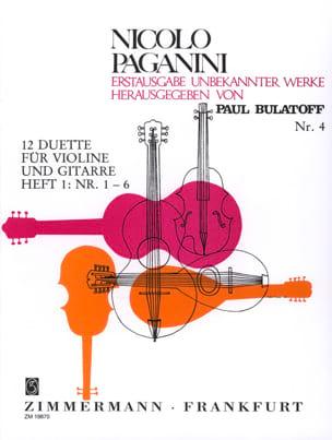 Niccolò Paganini - 12 Duette - Heft 1 (n° 1-6) – Violine Gitarre - Partition - di-arezzo.fr