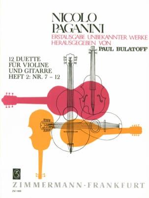 Niccolò Paganini - 12 Duette - Heft 2 (n° 7-12) - Violine Gitarre - Partition - di-arezzo.fr