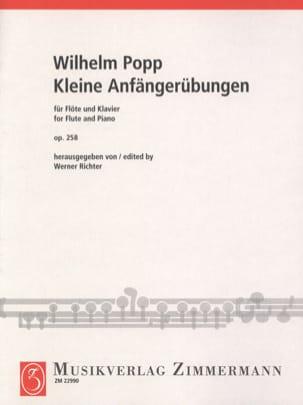 Kleine Anfängerübungen Op. 258 Wilhelm Popp Partition laflutedepan