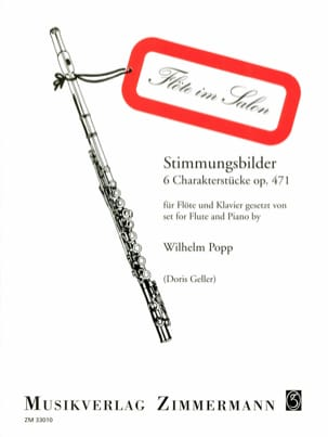 Wilhelm Popp - Stimmungsbilder op. 471 - Flöte Klavier - Partition - di-arezzo.fr