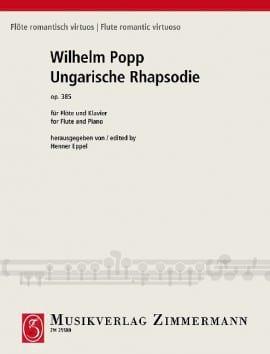 Rhapsodie Hongroise Op. 385 Wilhelm Popp Partition laflutedepan
