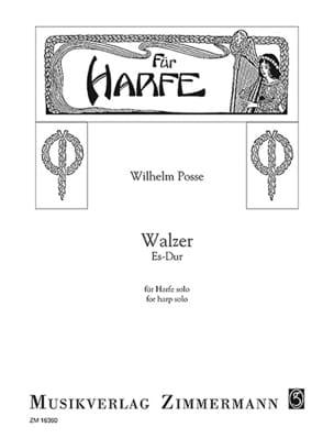 Wilhelm Posse - Waltz in Eb Major - Harp - Sheet Music - di-arezzo.co.uk