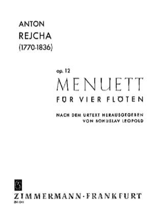 Anton Reicha - Menuett op. 12 – 4 Flöten - Partition - di-arezzo.fr