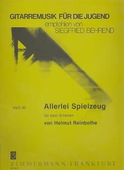 Helmut Reinbothe - Allerlei Spielzeug - Partition - di-arezzo.fr