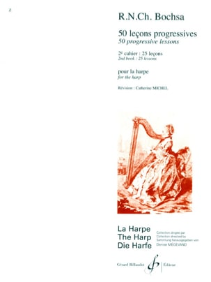 Charles Bochsa - 50 Progressive lessons - Volume 2 - Sheet Music - di-arezzo.co.uk