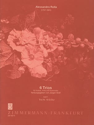Alessandro Rolla - 6 Trios - Heft 1 : Nr. 18 G-Dur –Stimmen - Partition - di-arezzo.fr
