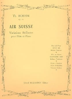 Theobald Boehm - Air suisse op. 20 - Partition - di-arezzo.fr