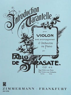 Introduction et Tarantelle SARASATE Partition Violon - laflutedepan