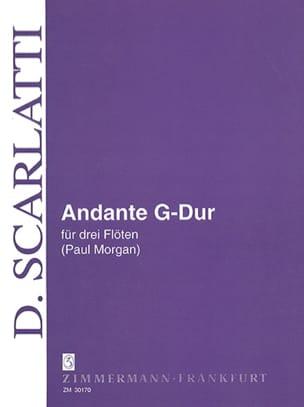 Domenico Scarlatti - Andante G-Dur - 3 Flöten - Partition - di-arezzo.fr