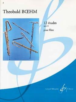 12 Etudes op. 15 - Theobald Boehm - Partition - laflutedepan.com