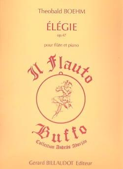 Elégie op. 47 - Theobald Boehm - Partition - laflutedepan.com