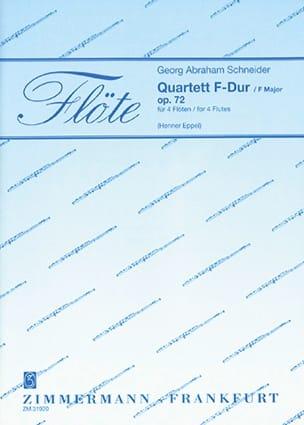 Quartett F-Dur - Georg Abraham Schneider - laflutedepan.com