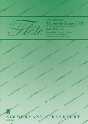 Sonatine op. posth. 137 Nr. 3 g-moll -Flöte Klavier - laflutedepan.com