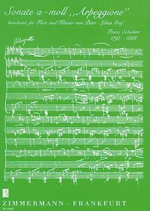 Sonate A-Moll Arpeggione SCHUBERT Partition laflutedepan