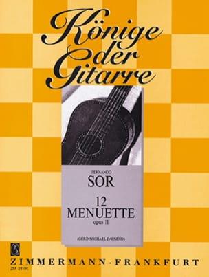 12 Menuette op. 11 SOR Partition Guitare - laflutedepan