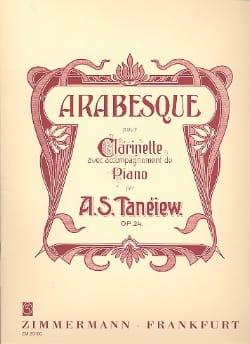 Serge Taneiev - Arabesque op. 24 - Partition - di-arezzo.fr