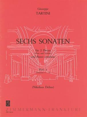 6 Sonaten - Heft 1 - 2 Flöten BC TARTINI Partition laflutedepan