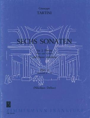 Giuseppe Tartini - 6 Sonaten - Heft 2 - 2 Flöten Bc - Sheet Music - di-arezzo.com