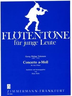 TELEMANN - Concerto a-moll - 3 Flöten - Partition - di-arezzo.fr