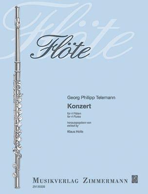 TELEMANN - Concerto Pour 4 Flûtes - Partition - di-arezzo.fr