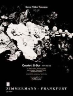 TELEMANN - Quartett D-Dur TWV 43: D3 - Flute Violine Viola da gamba BC - Sheet Music - di-arezzo.com