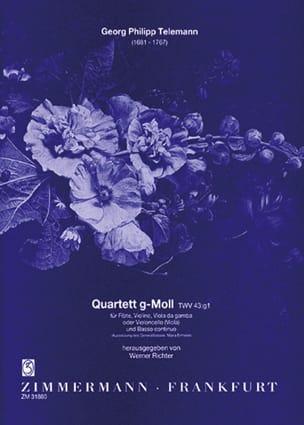 Georg Philipp Telemann - Quartett g-moll TWV 43:g1 – Flöte Violine Viola da gamba BC - Partition - di-arezzo.fr