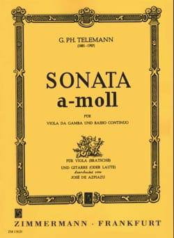Sonate en LA mineur pour Alto et Guitare TELEMANN laflutedepan