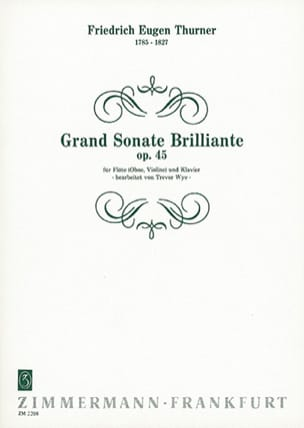 Friedrich Eugen Thurner - Grande sonate brilliante op. 45 - Partition - di-arezzo.fr