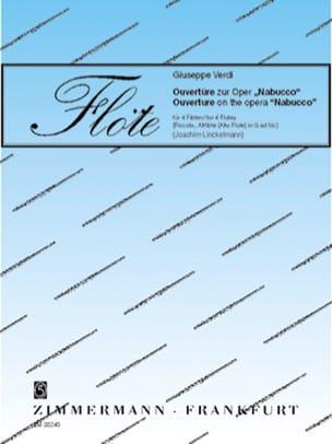 Ouverture de Nabucco VERDI Partition Flûte traversière - laflutedepan