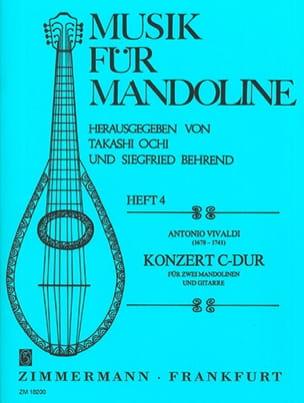 Konzert C-Dur -2 Mandolinen u. Gitarre VIVALDI Partition laflutedepan